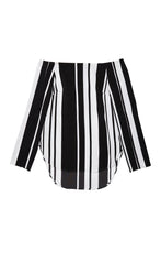 Vertigo Cape Stripe Top // Black & White