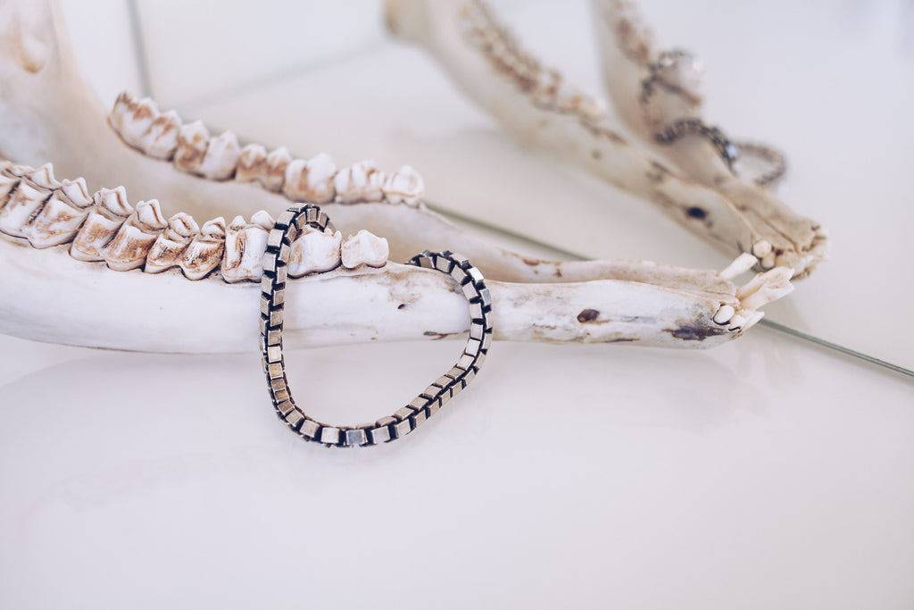 Box Chain Bracelet Small // Silver