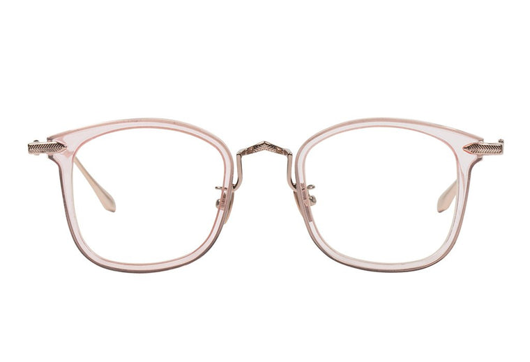 Alchemy // Crystal Pink w. Gloss Rose Gold Metal Trim Clear Lens