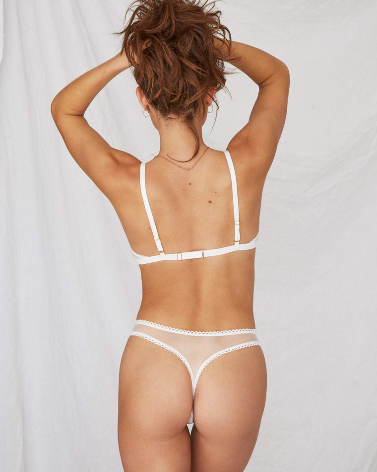 Saturday Mesh G-string // White
