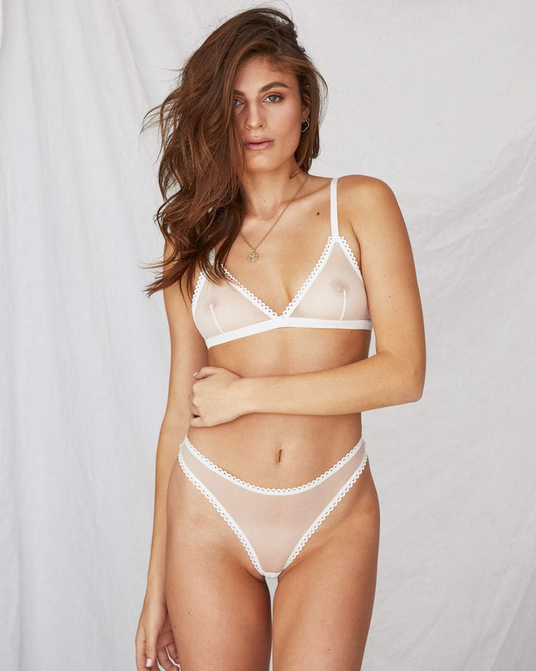 Sunday Softcup Bralette // White