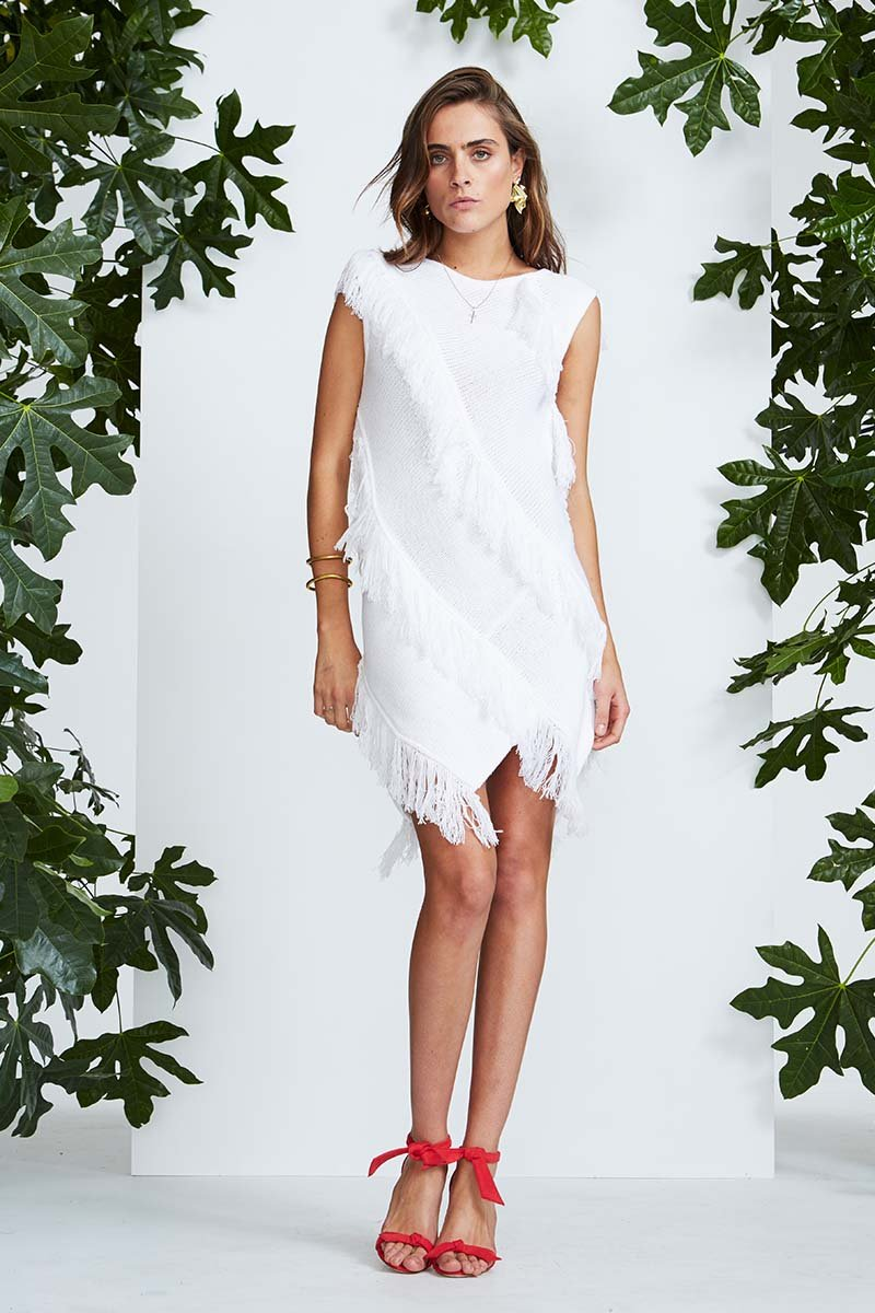 Crepe Knit Dress // White