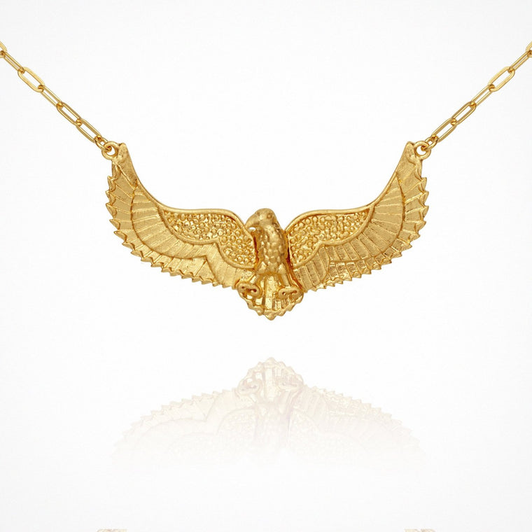 Eagle Necklace // Gold