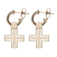 The Sioux Cross Earring // Rose Gold