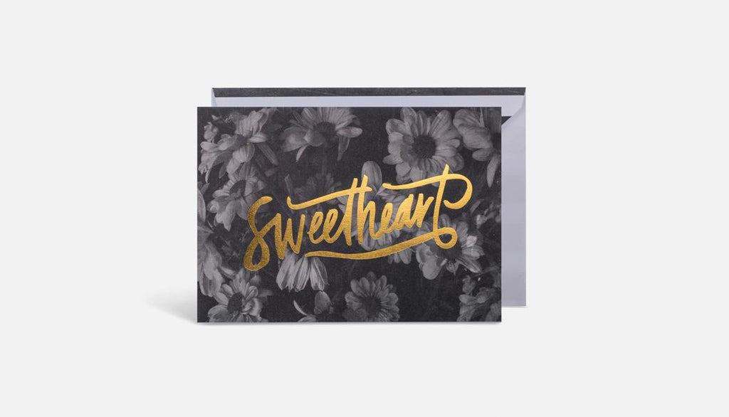 Sweetheart Card // Black & Gold