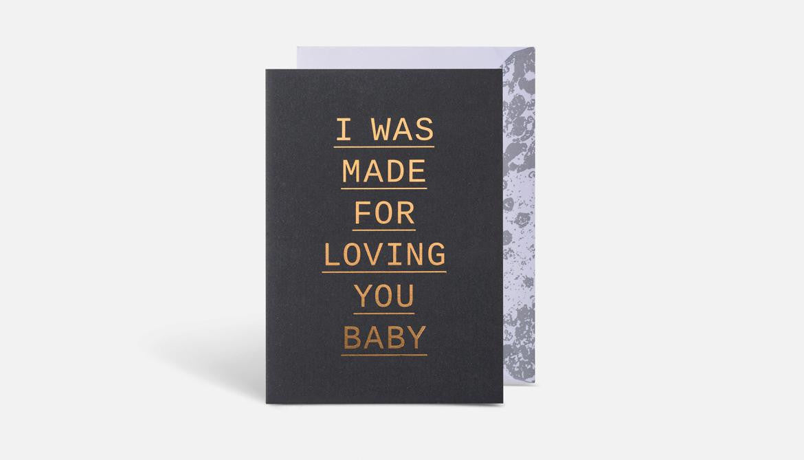 I Was Made Card // Black & Gold