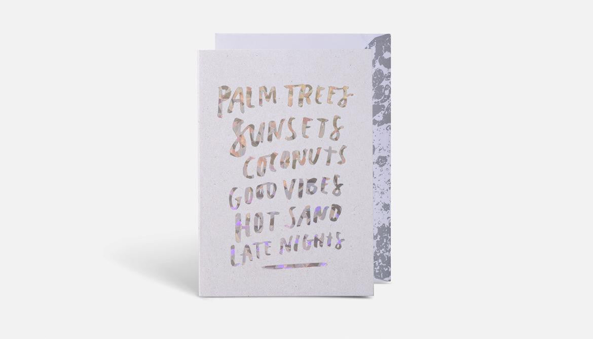 Palm Trees Card // Multi