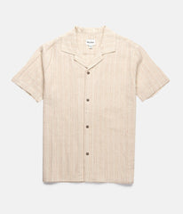 Vacation Stripe SS Shirt // Natural