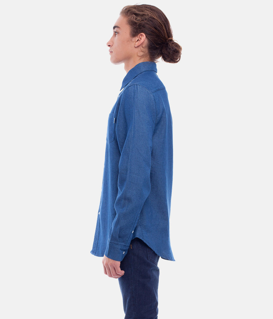 Willow Chambray L/S Shirt // Indigo