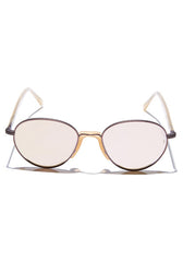 Komang // Brushed Rose Gold Metal / Semi-Matte Congee Temples with Rose Gold Mirror Lens