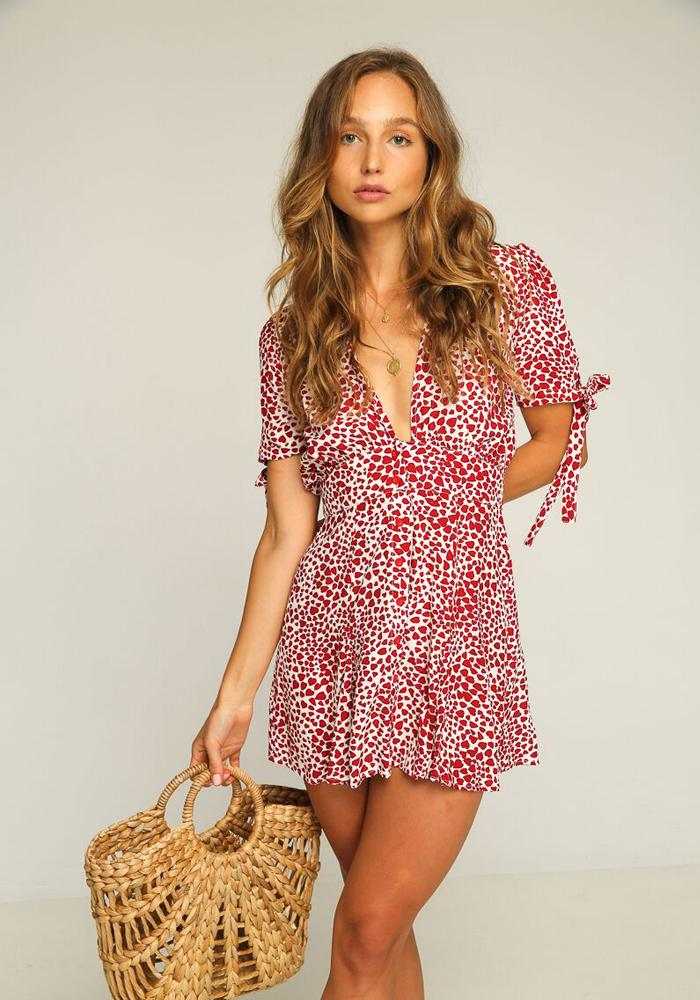 Laguna Mini Dress // Red Heart