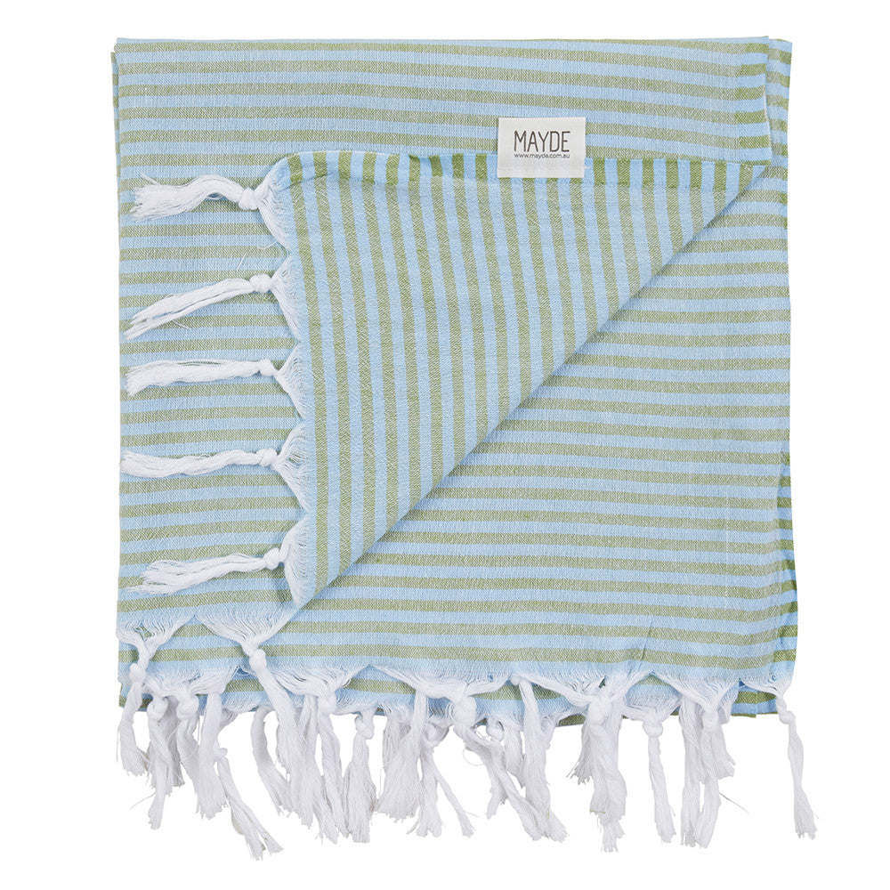 Noosa Towel // Chambray & Forest