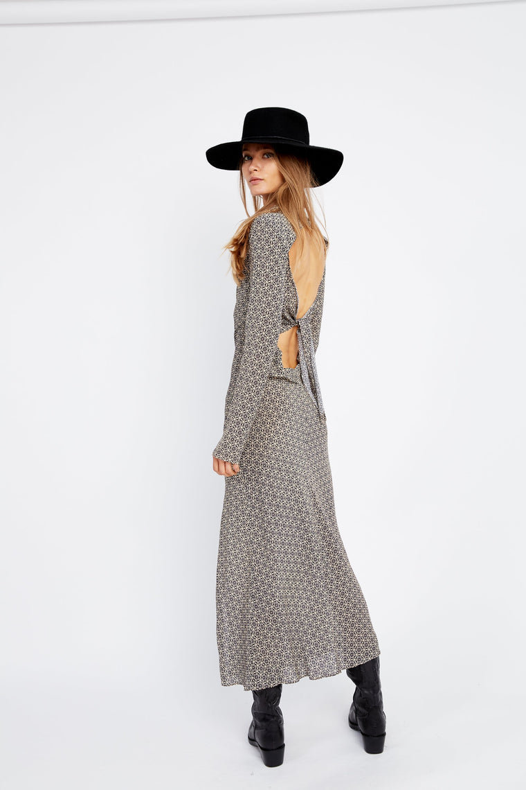 Mosaic Bias Maxi Dress // Mosaic
