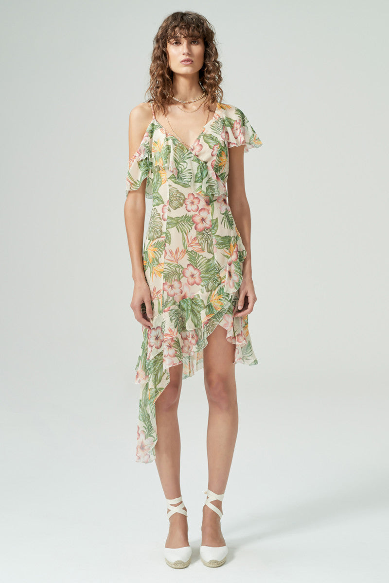 Carrie Silk Dress // Hawaiian