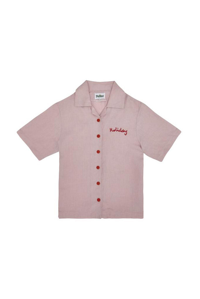 The Holidays Bowling Shirt // Pink
