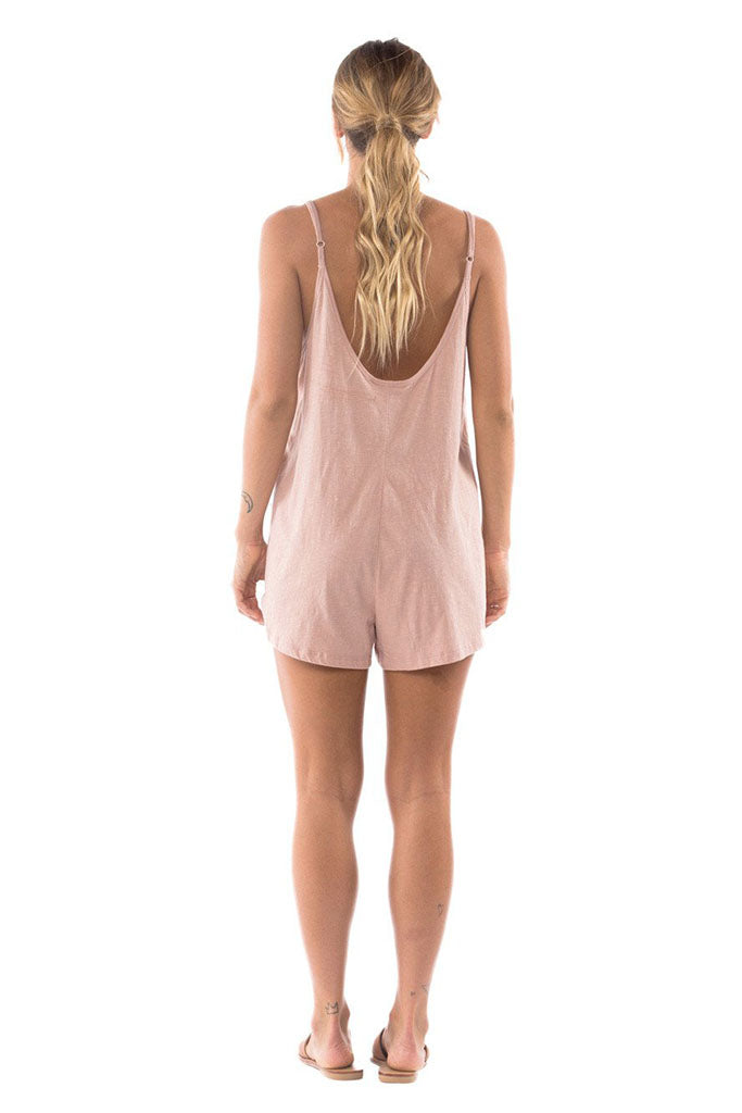 Mimi Cotton Playsuit // Blush