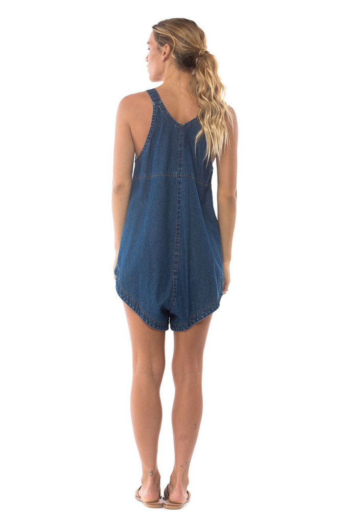 Joey Denim Playsuit // Dk Vintage Wash