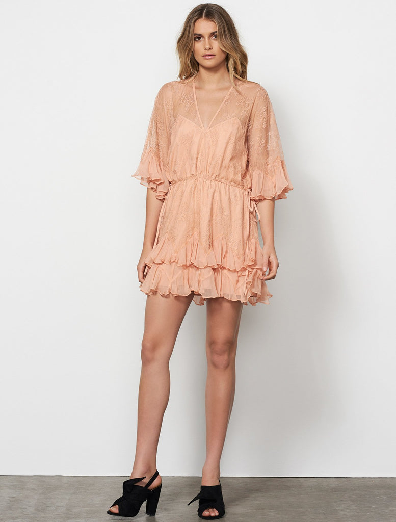 Arid Dreams Mini Dress // Tan