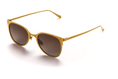 Rocco // Gold w/ Light Brown Lenses