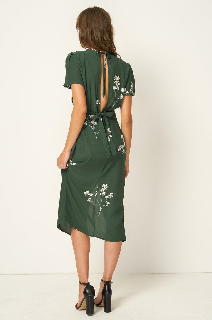Salt Lake Midi Dress // Blossom Mustang Green