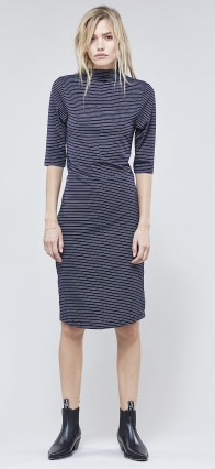 Webster Funnel Neck Dress // Navy