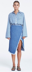 Panorama Denim Skirt // Indigo