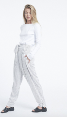 Strike Pant // White & Black Stripe