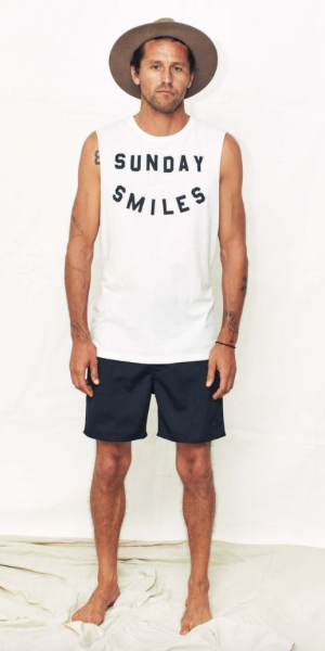 Sunday Smiles Tank // White