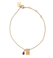 Little Buddha & Ruby Bracelet // Gold