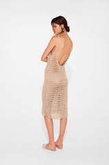 Edie Low Back Dress // Bone Crochet