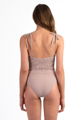 Smocked One Piece // Almond