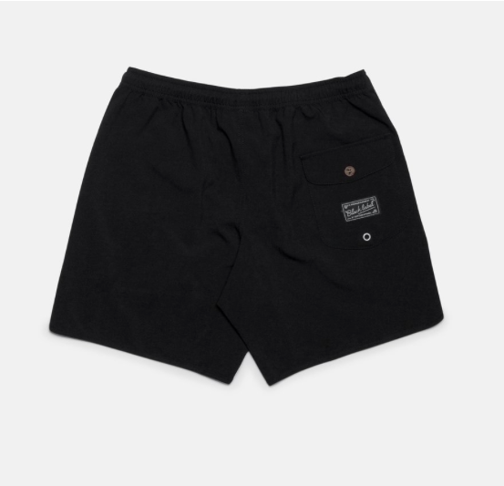 Black Label Beach Short // Black