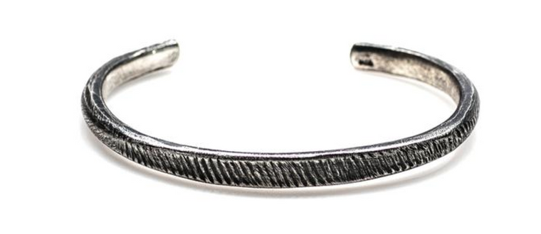 Indo Maverick Cuff Large // Etched Silver