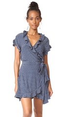 Indra Wrap Dress // Orb Polka