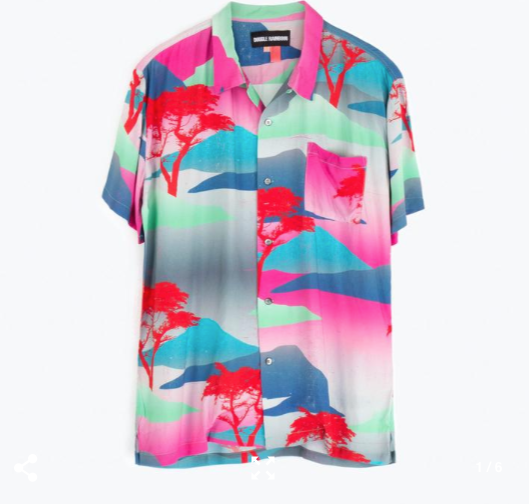 S/S Hawaiian Shirt // Moon Safari