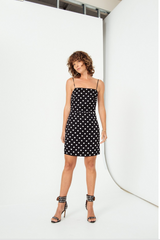 Spotted Mini Dress // Black Spot