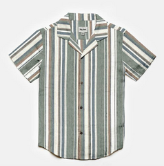 Vacation Stripe SS Shirt // Olive