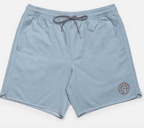 Black Label Beach Short // Stone Blue