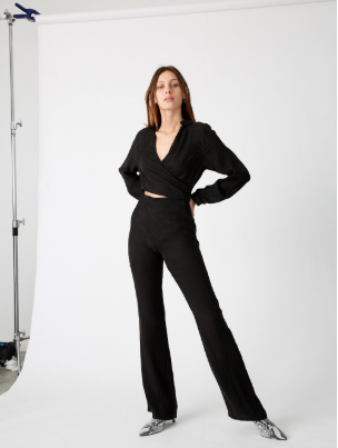 Revolution Wrap Jumpsuit // Black