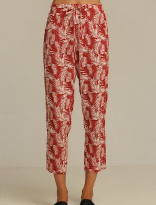 Adeline Pant // Canyon Red Palm
