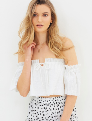 Iggy Off Shoulder Top // White