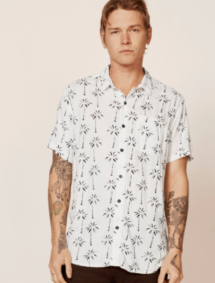 Bon Shirt // White Palms