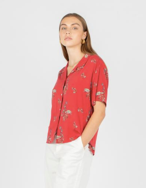 Resort Shirt // Red Hawaii
