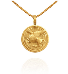 Pegasus Coin Necklace // Gold