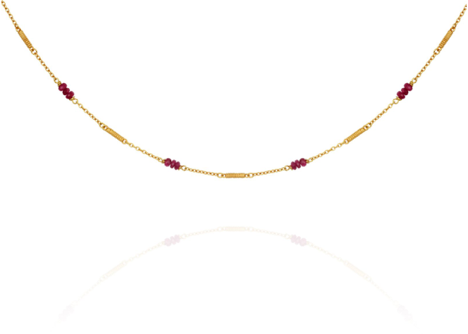 Quinn Ruby Necklace // Gold