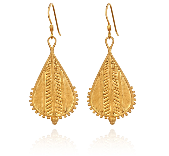 Rahda Earrings // Gold