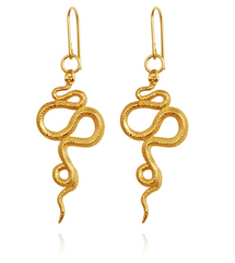 Snake Earrings // Gold