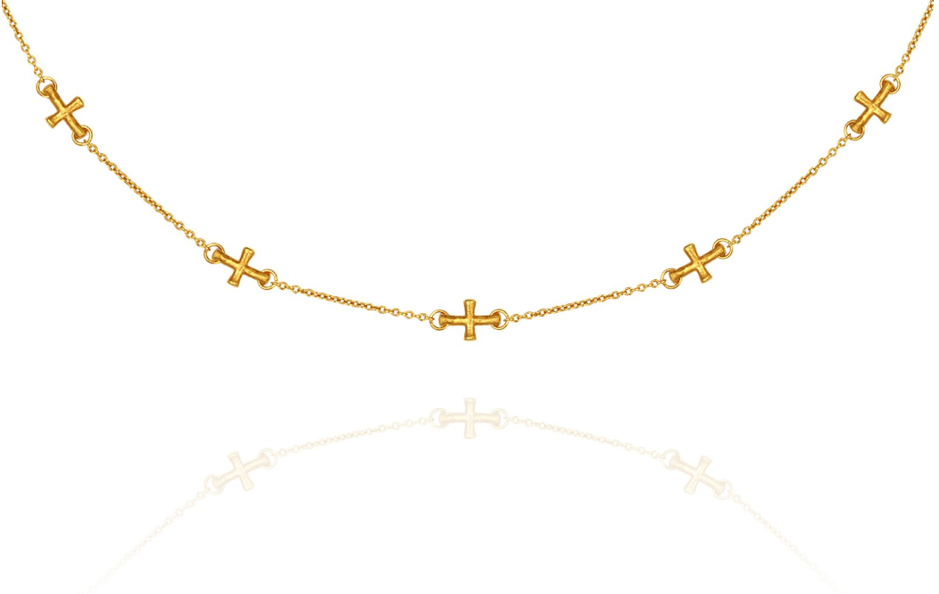 Cross Necklace // Gold