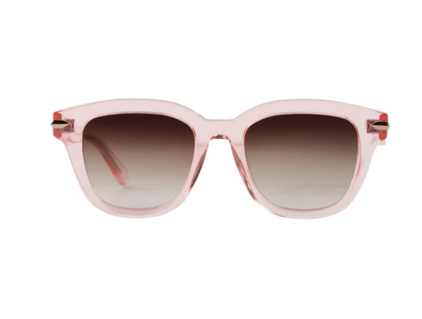 Brake // Crystal Pink w. Rose Gold Titanium Trim / Brown Gradient Lens