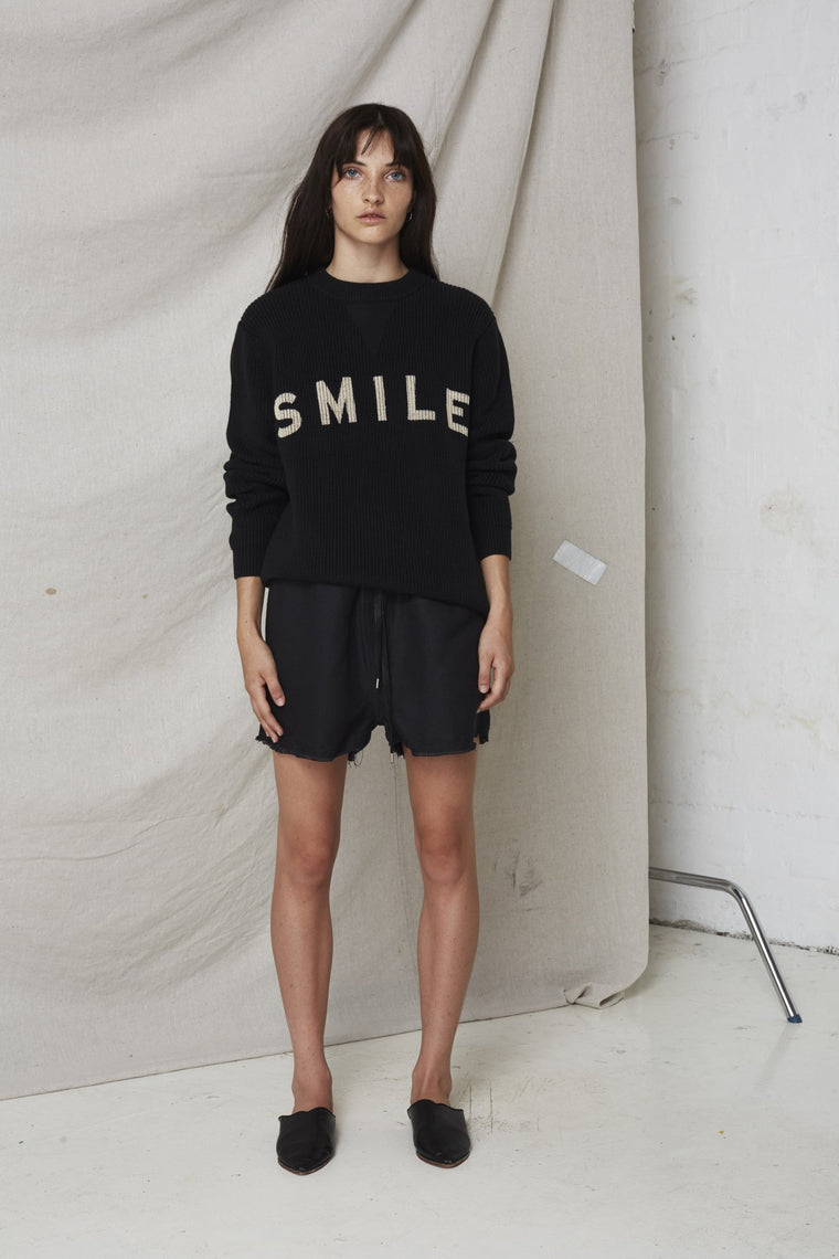 Smile Sweater // Black
